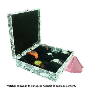 12 Slot Leatherette Vintage Vogue Art Watch Organiser_ADWB0000130