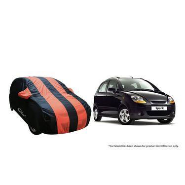 Autofurnish Stylish Orange Stripe Car Body Cover For Chevrolet Spark  -AF21123