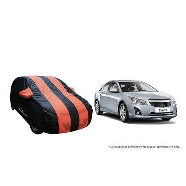 Autofurnish Stylish Orange Stripe Car Body Cover For Chevrolet Cruze  -AF21127