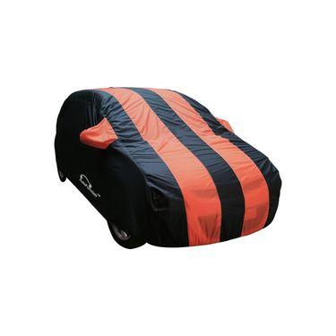 Autofurnish Stylish Orange Stripe Car Body Cover For Chevrolet Aveo Yuva -AF21155