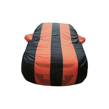 Autofurnish Stylish Orange Stripe Car Body Cover For Mahindra Scorpio  -AF21168