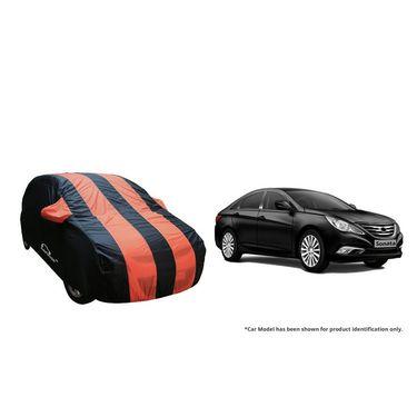 Autofurnish Stylish Orange Stripe Car Body Cover For Hyundai Sonata  -AF21198