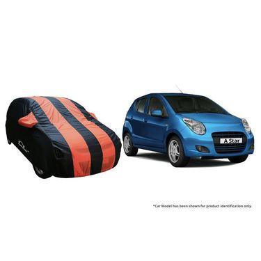 Autofurnish Stylish Orange Stripe Car Body Cover For Maruti New Alto 800-AF21207