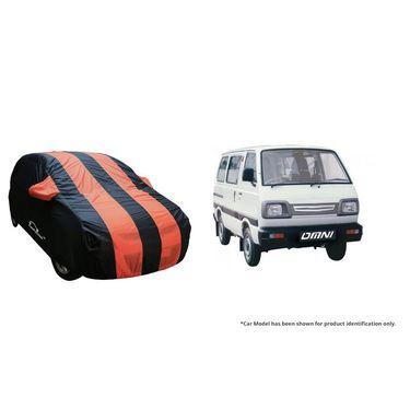 Autofurnish Stylish Orange Stripe Car Body Cover For Maruti Omni  -AF21210