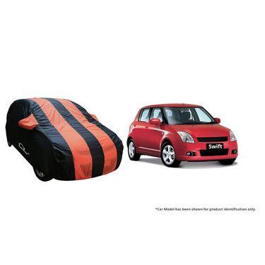 Autofurnish Stylish Orange Stripe Car Body Cover For Maruti Ritz  -AF21213