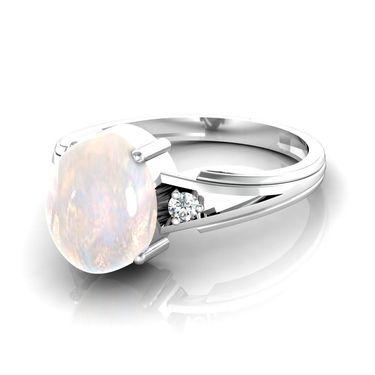 Ag Real Diamond Kirti Ring_AG014w