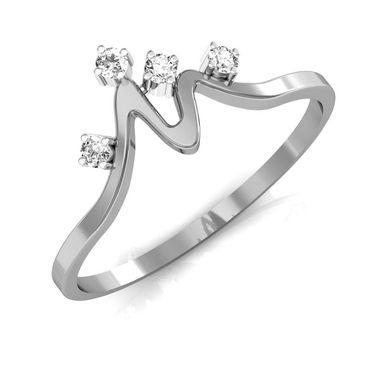 Ag Real Diamond Janavi Ring_AG0009w