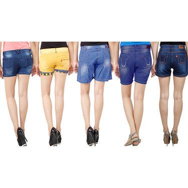 Pack Of 5 Uber Urban Denim Shorts-UB-010