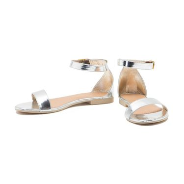 Aleta Synthetic Leather Womens Flats Alwf0216-Silver