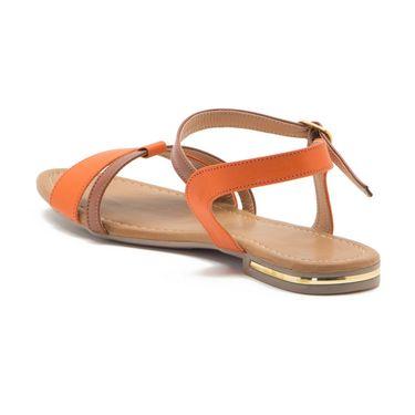 Aleta Synthetic Leather Womens Flats Alwf1016-Orange