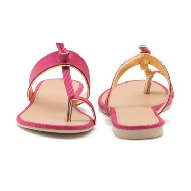 Aleta Synthetic Leather Womens Flats Alwf1316-Pink