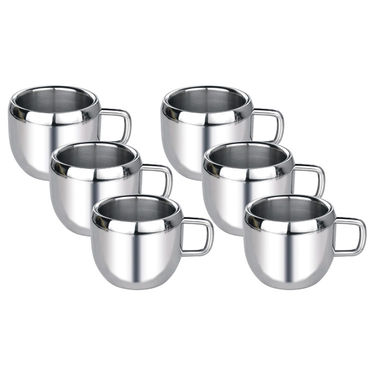 Aoito Double Wall Apple Set of 6 Stainless Steel Mug_APPL-AOI-6