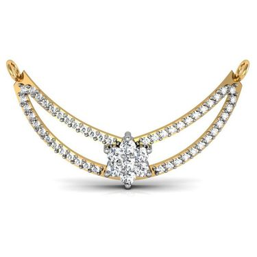 Avsar Real Gold & Swarovski Stone Kalpana Mangalsutra_Avm008yb