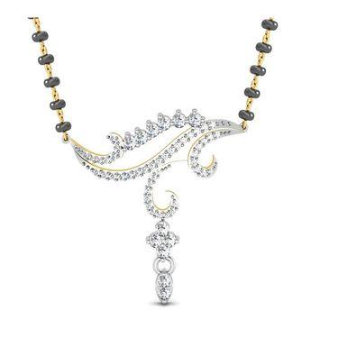 Avsar Real Gold & Swarovski Stone Diksha Mangalsutra_Avm009yb