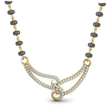Avsar Real Gold & Swarovski Stone Tripura Mangalsutra_Avm074yb