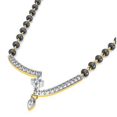 Avsar Real Gold & Swarovski Stone Vashi Mangalsutra_Avm078yb
