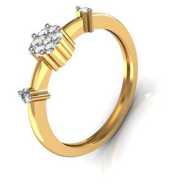 Avsar Real Gold & Swarovski Stone Vidya Ring_A005yb