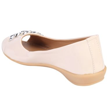 Azores Womens Cream Ballerina -Azf_14C
