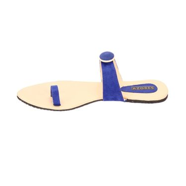 Azores Womens Blue Flats -Azf_Cblu