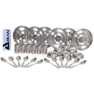 Airan 30 Pcs Stainless Steel Dinner Set