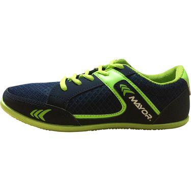 Mayor  Amaze Navy, Lime Green Shoes - 9