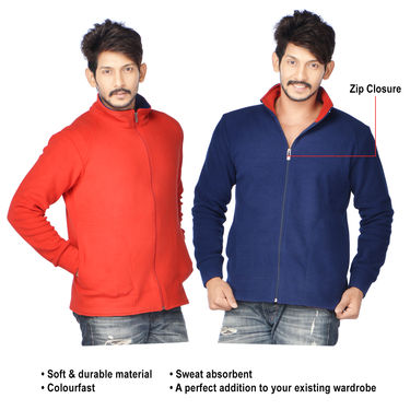 Buy American Indigo Fleece Jacket for Men - Buy 1 Get 1 Free ...