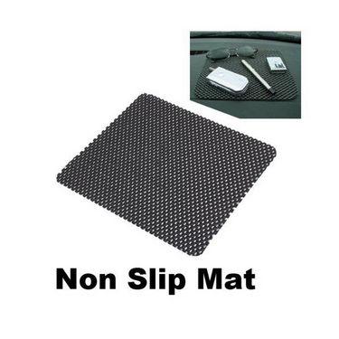 Anti slip Car Dashboard Mat Black - Pack of 2