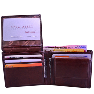 Leather Wallet For Men - Brown_C11438-2