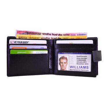Arpera Genuine Leather Wallet For Men - Black_C11440-1