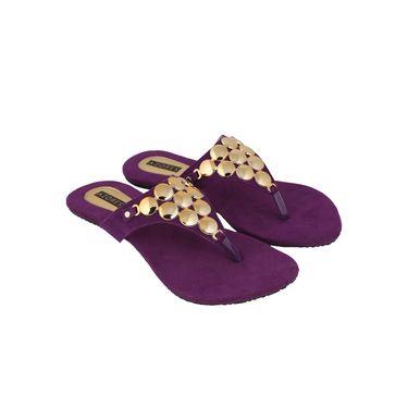 Azores Womens Purple Sandals -Azf_2P