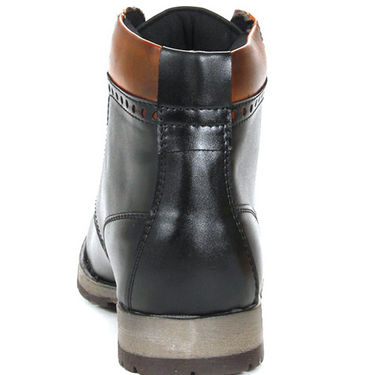 Bacca bucci Faux Leather High Ankle Length Boots - Black
