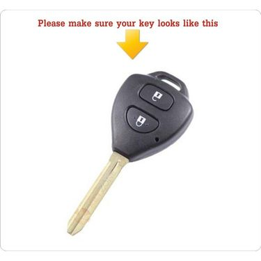 AutoStark Silicone Key Cover For Toyota 2 Innova Button Remote Key