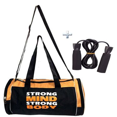 Combo of Protoner Gym Bag - Strong Mind Strong Body With Rope