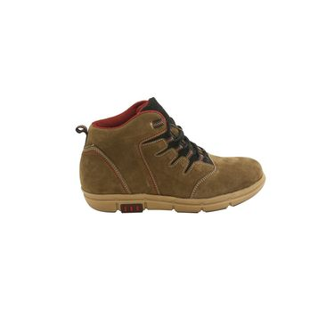 Suede Leather Olive  Boot -ntb02