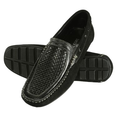 Bacca Bucci Genuine Leather Black  Loafers -Bbmc4041A