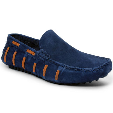 Bacca Bucci Suede Leather Blue Loafers -Bbmc4059B