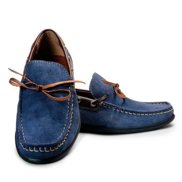 Bacca Bucci Suede Leather Blue Loafers -Bbmc4066B