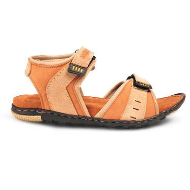 Bacca Bucci Suede Leather Tan Sandals -Bbme6035D