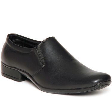 Bacca Bucci Genuine Leather Black  Formal Shoes -Bbmf7005A
