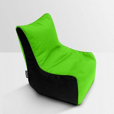 Storyathome Green and Black Bean Bag Chair Cover- XXL