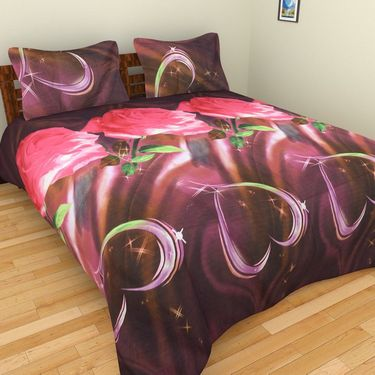 Mangalam Polycotton double Bedsheet  with 2 pillow covers-BD-16