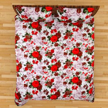 Mangalam Polycotton double Bedsheet  with 2 pillow covers-BD-30
