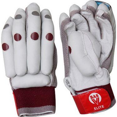 BAS Vampire  (Size-L) Elite Batting Glove-White And Brown - BG61
