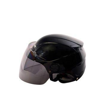 Autofurnish (BT-1004) Bullit Trendy Helmet (Black) - Smoke Black Glass-BT-1004