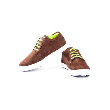 Kohinoor Footwears Canvas Casual Shoes BT094_Brown