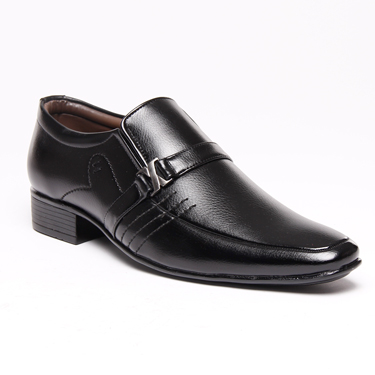 Bacca bucci Faux Leather Formal Shoes - Black-4316