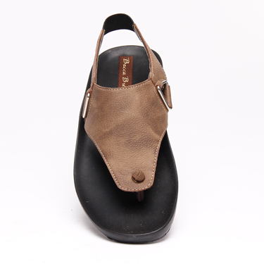 Bacca bucci Faux Leather Slippers - Brown-3087