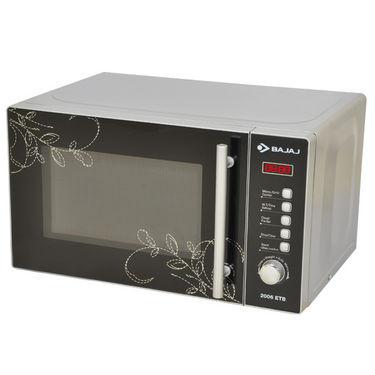 Bajaj (2006ETB) Modern Design 20Ltrs Microwave Oven with Digital Display, Preset Menu, Auto Defrost