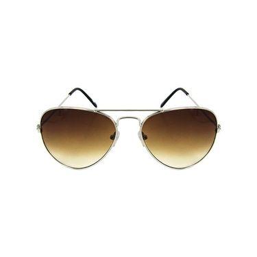 Unisex Aviator Sunglasses_Bes023 - Brown