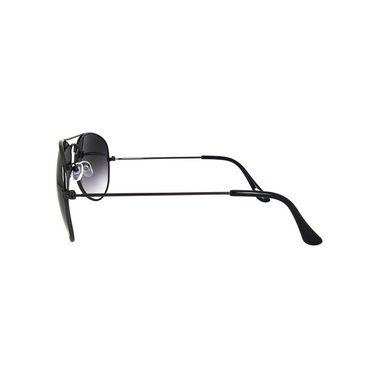 Unisex Aviator Sunglasses_Bes024 - Light Black